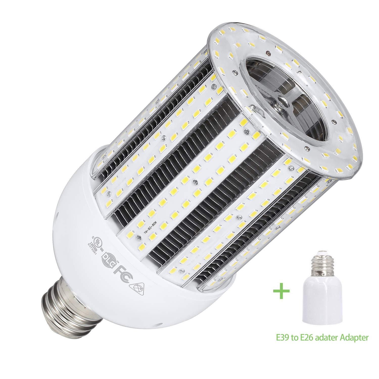 GTAREN 38W LED Corn Light Bulb for Indoor Outdoor Large Area - UL DLC 5000K Daylight 4600Lm E26 Base,for Street Lamp Post Lighting Garage Factory Warehouse High Bay Barn Porch Garden.