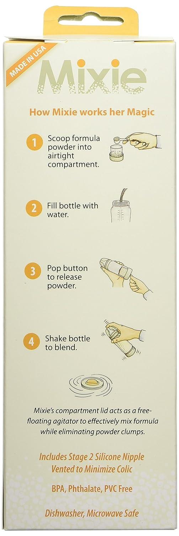 transparent Mixie MIX-001-00 Formula-Mixing Baby Bottle 4 oz