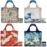 LOQI Museum2 Collection Pouch Reusable Bags, Multicolor, Set of 4