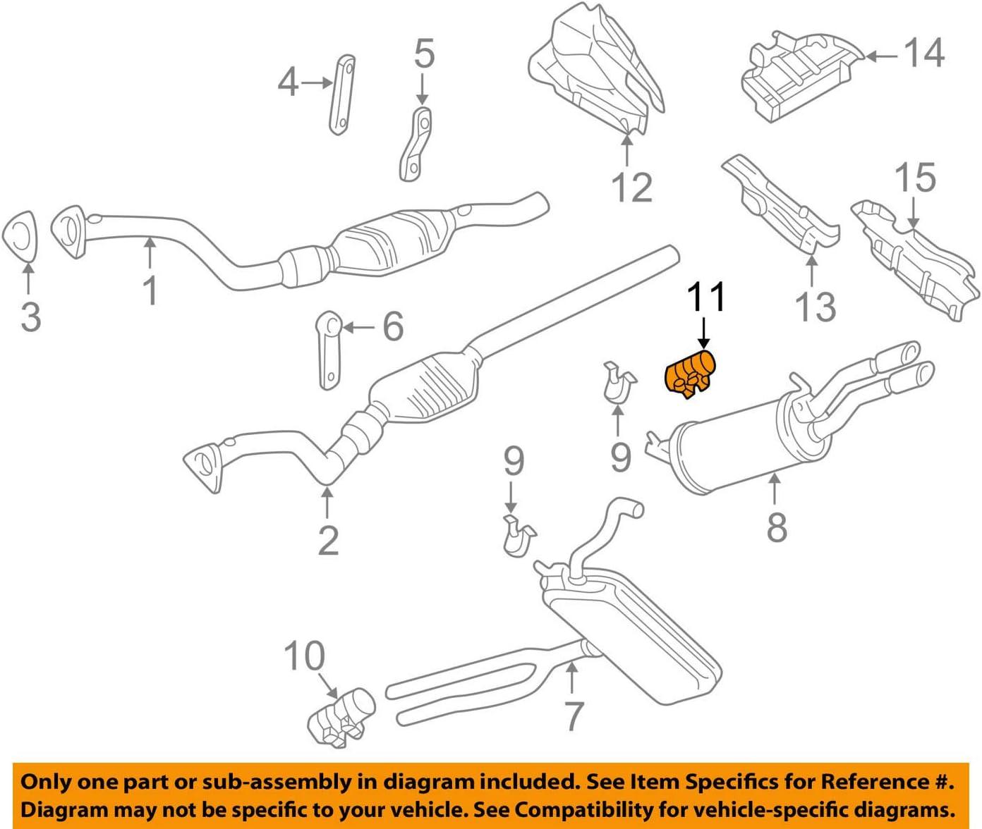 amazon.com: volkswagen 357 253 141 a, exhaust clamp: automotive  amazon.com