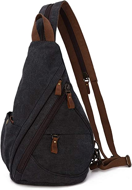 Gravity Travels Leather Hobo Small Sling Backpack Handbag