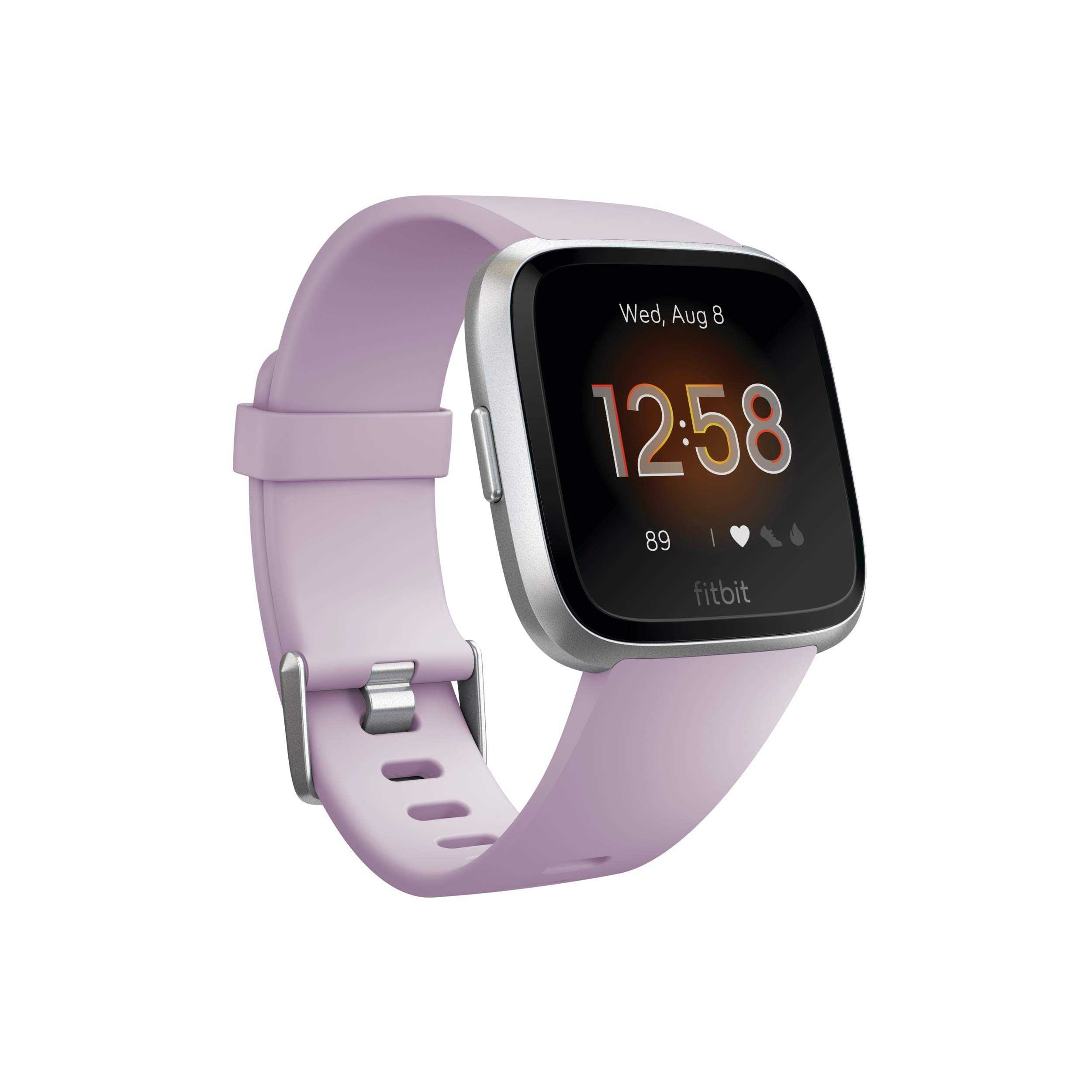 Fitbit Versa Lite Edition Smart Watch, 1 Count (S & L bands included) (Renewed) by Fitbit