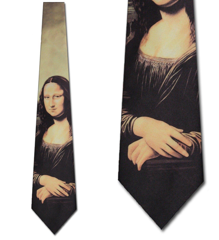 Mona Lisa tie by Leonardo da Vinci neckties by Three Rooker