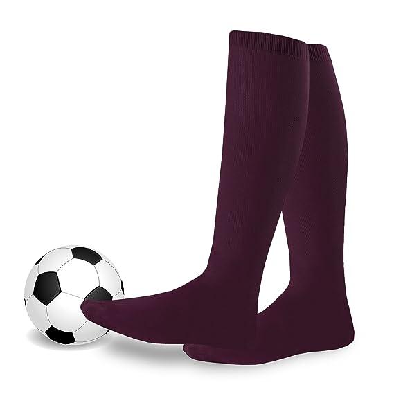 teehee acrílico Unisex fútbol deportes equipo cojín calcetines - Unisex, Unisex adulto, color granate, tamaño X-Small: Amazon.es: Ropa y accesorios