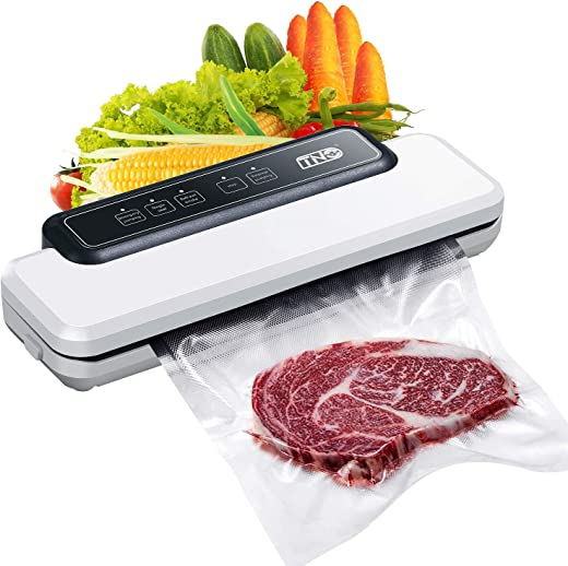 Vacuum Sealer Packing Machine, TNO Automatic Food Sealer Machine for Food Storage and Preservation with Dry&Moist Modes for Sous Vide, Led Indicator Lights& Started Kit of Rolls&Hose for Home&Commercial Use