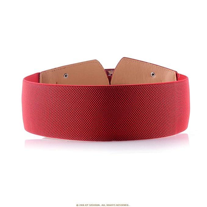 Cinturones anchos vintage para mujeres Famosas marcas de diseñador  Cinturones elásticos de fiesta Elásticos de camello rojo de las correas  negras  ... 6ce558a98695