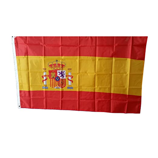 Bandera de España - 150 x 90 Centimetros / Para Uso en Interiores y Exteriores / Recuerdo Español: Amazon.es: Hogar