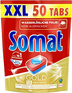 Somat Gold 12 Multi Active All in 1 Dishwasher Tabs - 2,2 lb (1 Kg) - 50 Tabs