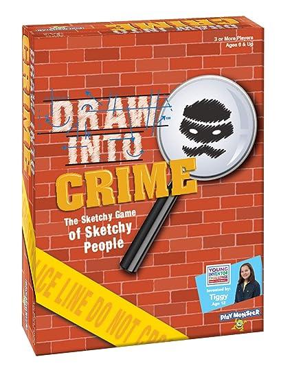 Amazon com: PlayMonster Draw Into Crime Game - A Game