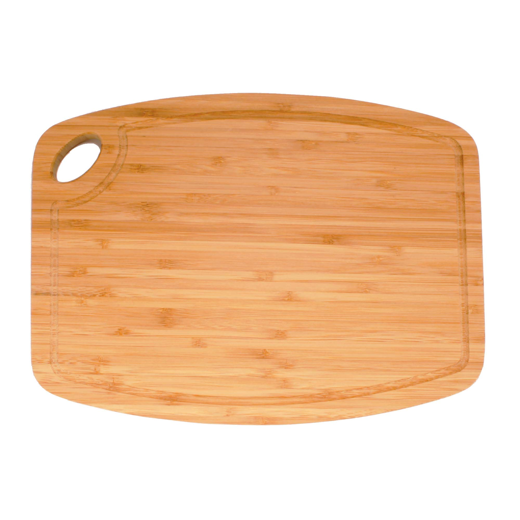Bamboo Bar-Style Curved Edge Cutting Board - 11.75'' x 8.63'' x 0.75'' - 30 Pieces