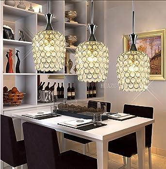 tre creativa sala da pranzo lampada lampade di cristallo LED ...