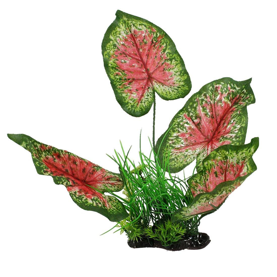 uxcell 人工水草 アクアリウム  水族館の装飾植物  グリーン フクシア B0089KTMYS