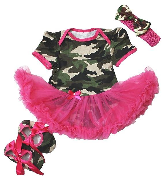 Amazon.com: petitebella camuflaje rosa body con zapatos ...