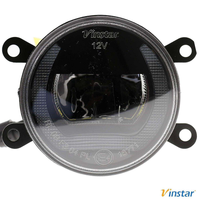 Vinstar NEBELSCHEINWERFER TAGFAHRLICHT LED f/ür Peugeot 207 307 407 607 CC SW Break