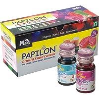 Papilon Food Flavours & Colours Shades Of Liquid Food Color (20 Ml X 10 Bottle)