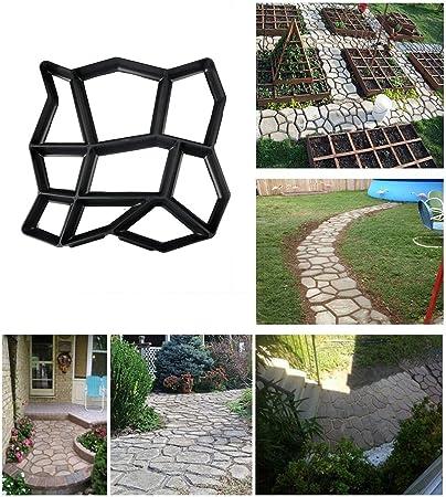 Molde para hacer caminos, jardín, césped o patio, molde de plástico para hormigón, piedra escalonada: Amazon.es: Bricolaje y herramientas