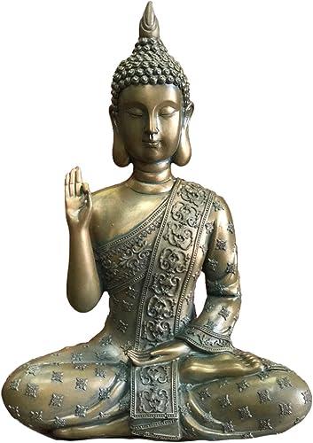 Galactikonsciousness Thai Buddha Meditating Peace Harmony Statue Thailand Home Decor Garden Outdoor Indoor Meditation Compassion Black Chakra Spiritual Feng Shui