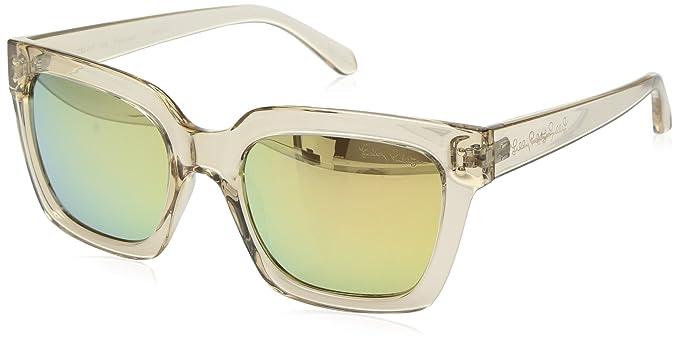 7419e75e4d lilly pulitzer Women 's Celine polarizadas anteojos de sol cuadrados, oro,  54Â mm