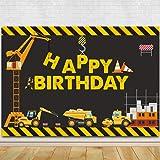 Construction Theme Birthday Party Photography Backdrop - Dump Truck Birthday Background Cake Table Boy Birthday Decorations