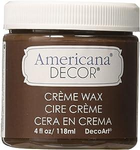 Deco Art Americana Decor Creme Wax, 4-Ounce, Deep Brown