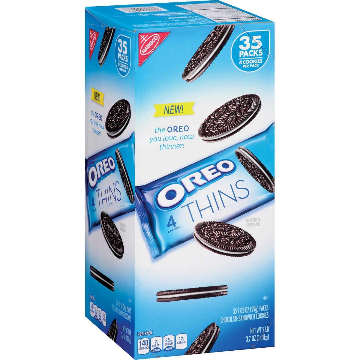 Oreo Thins 35 Packs / 4 Cookies Per Pack: Amazon.es: Alimentación ...