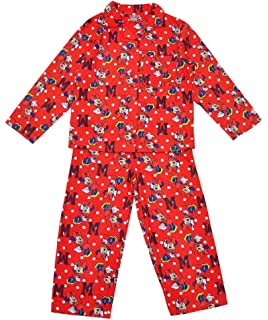 269e19536 Disneys Minnie Mouse Girls Pyjamas PJs Flannelette Winceyette Cream ...