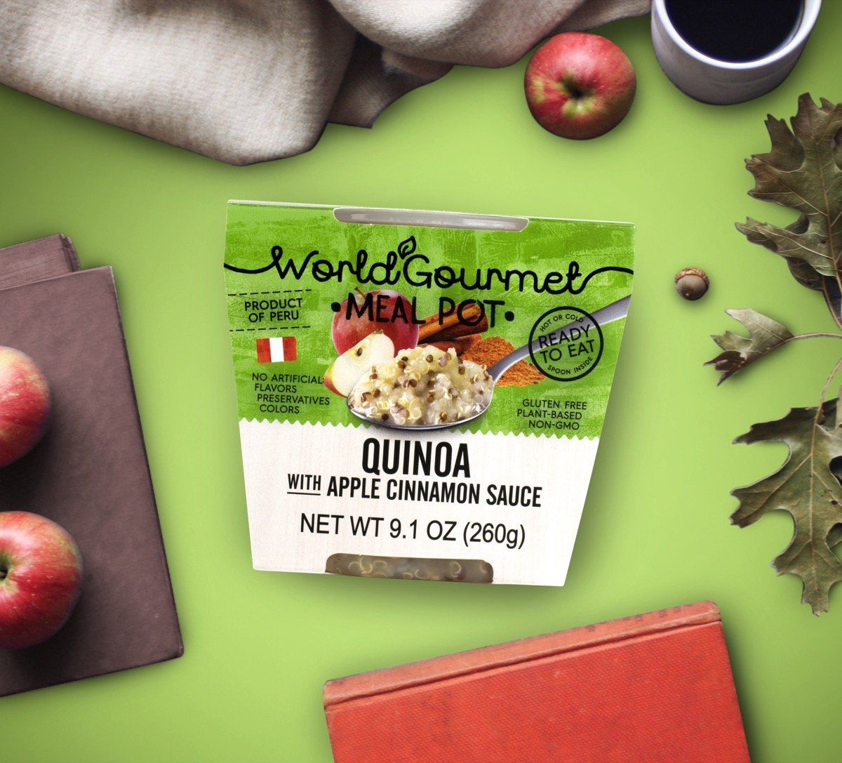 Quinoa Ready To Eat Meal By World Gourmet | Complete Plant-Based Protein Perfect for Breakfast, Lunch or Dinner Packed With A Delicious Apple Cinnamon Sauce (Pack of 6) by World Gourmet (Image #7)