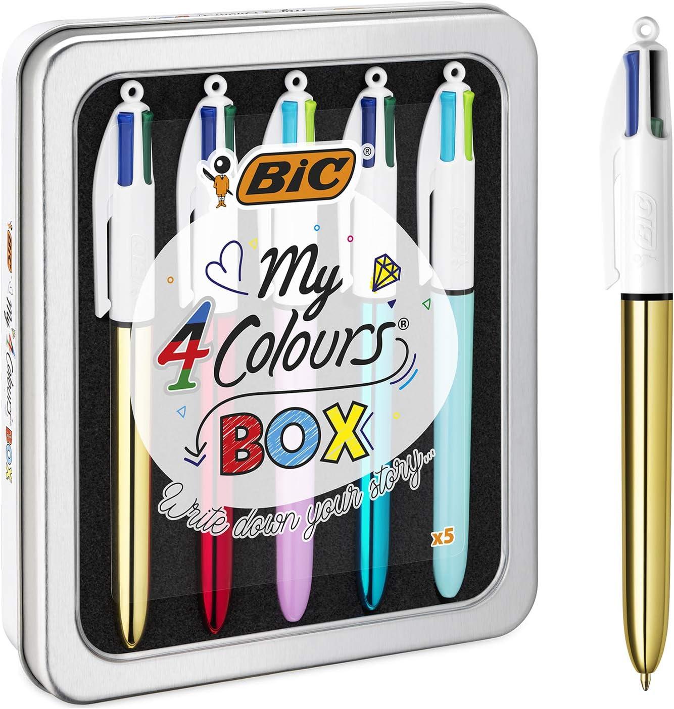 BIC My 4 Colours Box - bolígrafos, Caja de 5: Amazon.es: Oficina y papelería