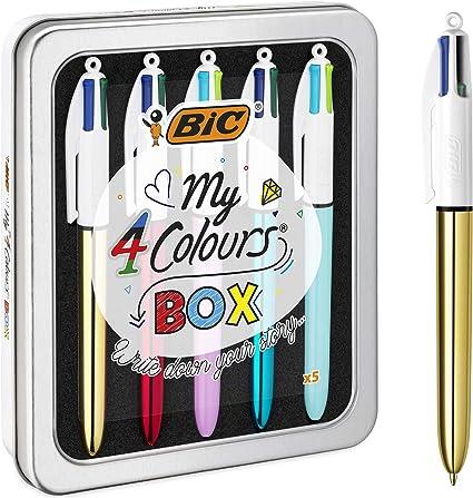 BIC My 4 Colours Box - bolígrafos, Caja de 5: Amazon.es: Oficina y ...