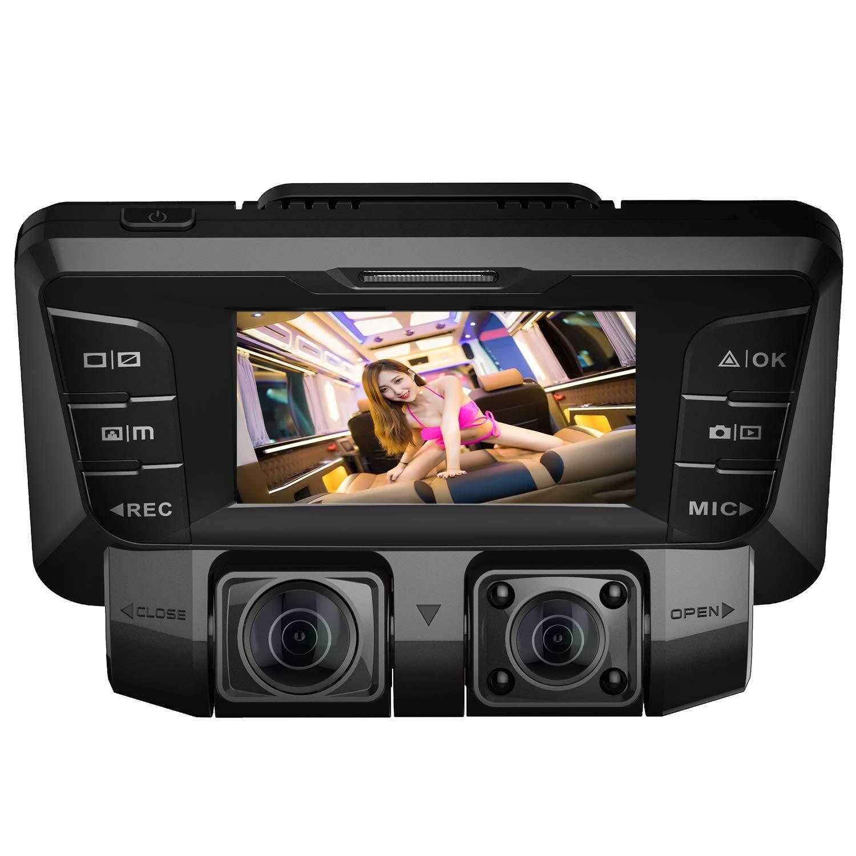 4K UHD Dashcam Auto WiFi Vorne Hinten Autokamera mit Dual Sony 170 Grad Weitwinkel Lens Infrarot,WDR Nachtsicht,Akku,Parkmonitor,Bewegungserkennung f/ür Park/überwachung,mit Micro SD Karte 64 GB