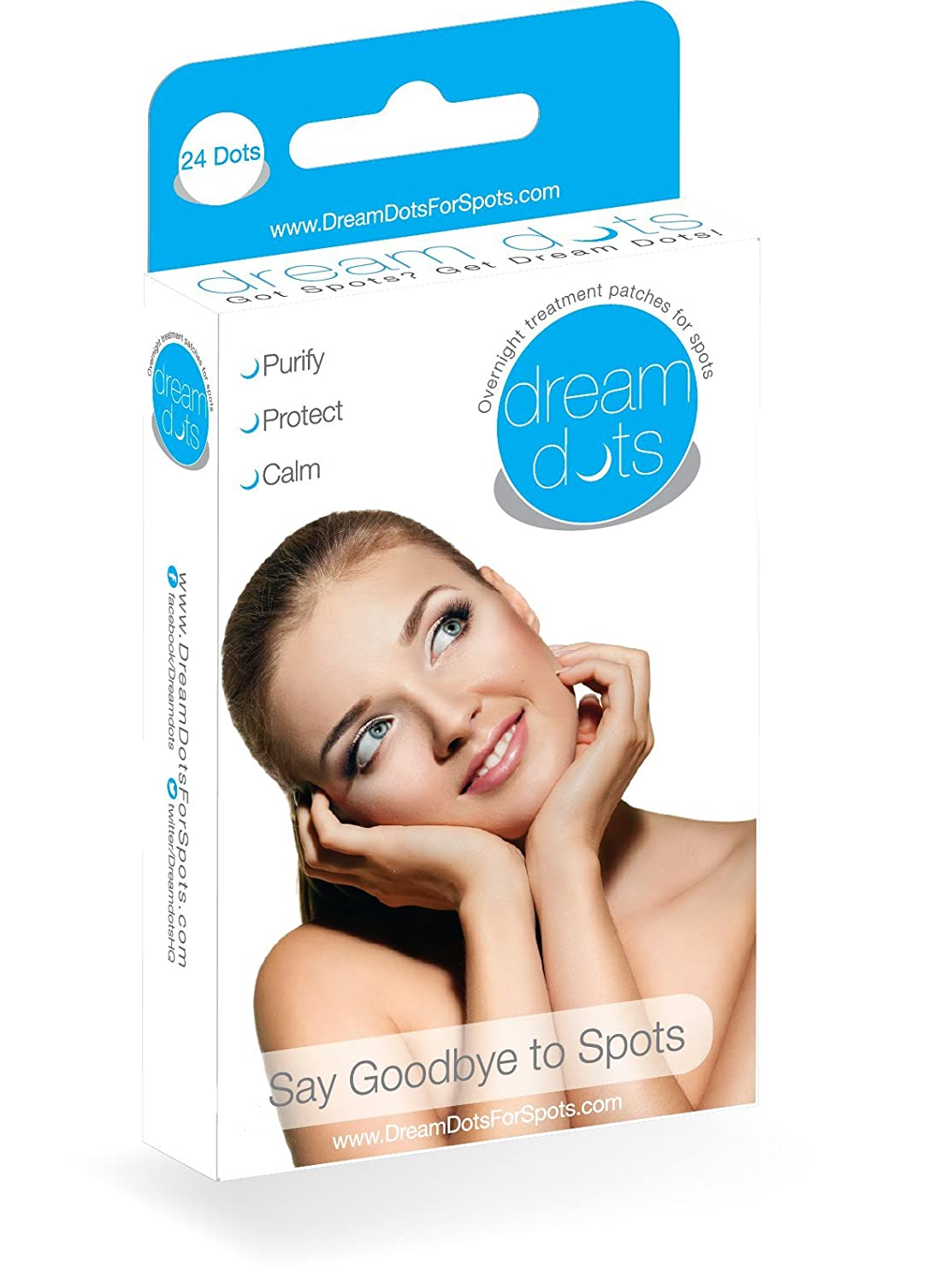 Dream Dots Acne Patches 24 Invisible Concealing Spot Patches Per Pack For Day or Night Dream Care Products DD1