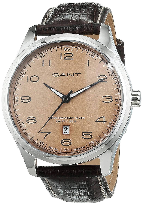 Tendedero time para hombre-reloj analógico de cuarzo cuero W71302