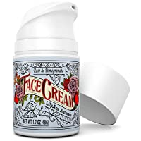Face Cream Moisturizer for Women - Anti-Aging Wrinkle Cream for Face, Face Moisturizer For Dry Skin, Dark Spot Brightening, Rose and Pomegranate Extracts - 1.7oz