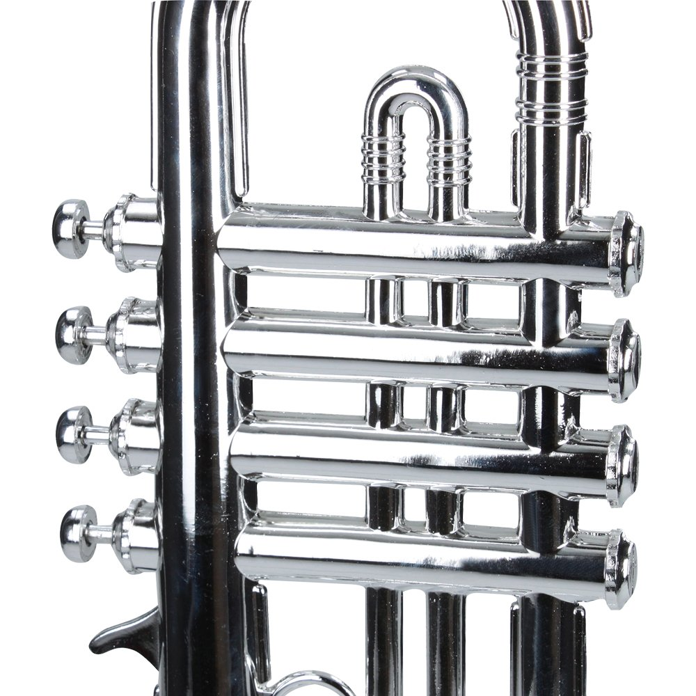 Reig Deluxe Trumpet (Silver) by by Reig (Image #4)