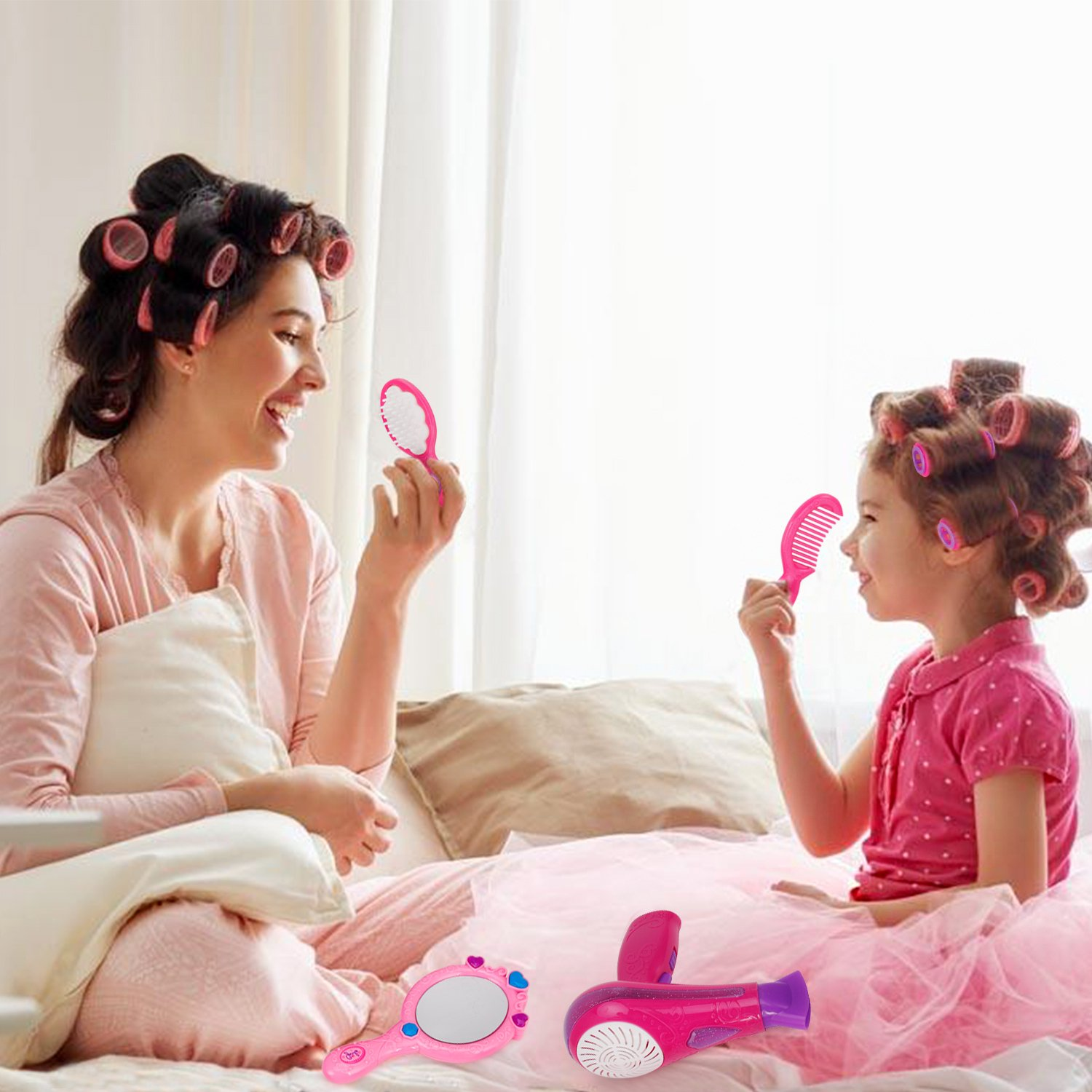 Liberty Imports Vogue Girls Beauty Salon Fashion Play Set with Hairdryer, Mirror & Styling Accessories by Liberty Imports (Image #7)
