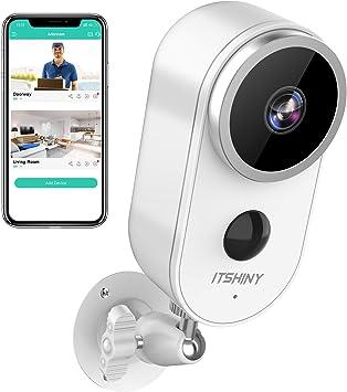 Ip Kamera Outdoor Itshiny Überwachungskamera Aussen Wlan Hd 1080p Überwachungskamera Aussen Kabellos Pir Bewegungserkennung Ip67 Wetterfest Nachtsicht Kompatibel Mit Ios Android Baumarkt