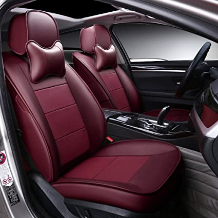 Amazon Com Autodecorun Genuine Leather Leatherette Car Seat Cover