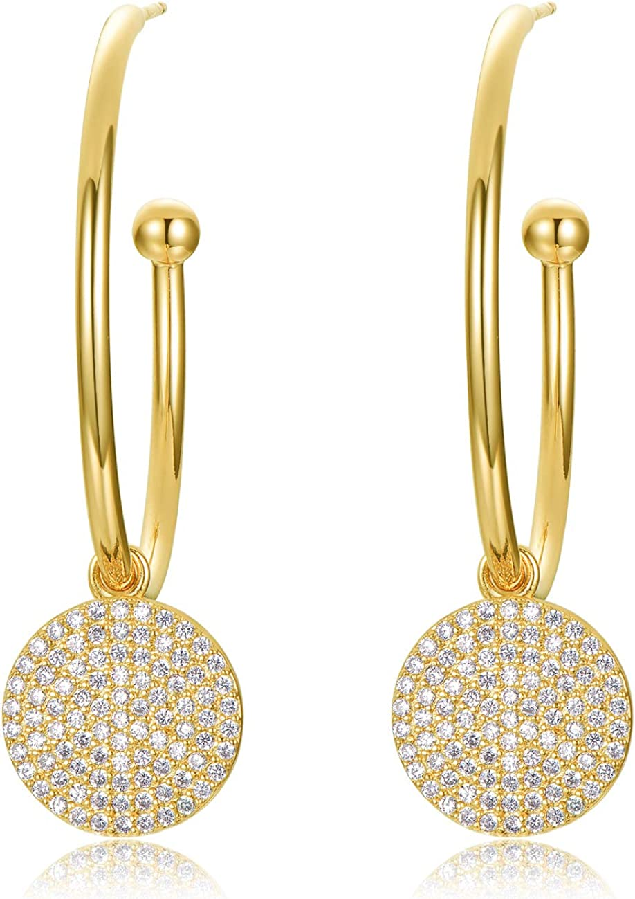 Fashion Crystal Star Pendant Earrings Women Drop Dangle Ear Stud Wedding Party