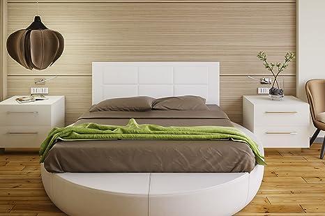 Hogar24 - Testiera imbottita, per letto da 150 cm - dimensione: larghezza:  155 x altezza 55 cm x spessore 3,0 cm, (disponibile anche per letto da 135  ...