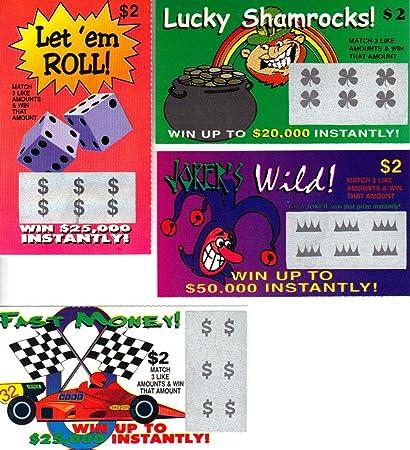 Amazon com: Fake Lottery Tickets-(30 Pack)- Fake Winning