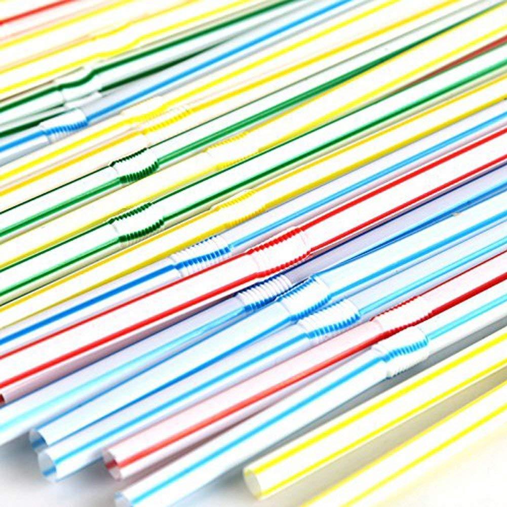 2 x amscan International Flexible Neon Straws Pack of 225