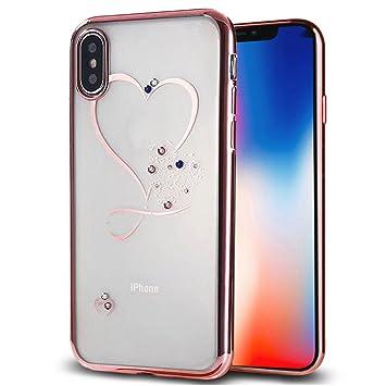 4810c12a64 ギジ)GIZEE iPhone XR 6.1インチ 専用 オシャレ かわいい ハート型 スワロフスキー クリスタル ソフト
