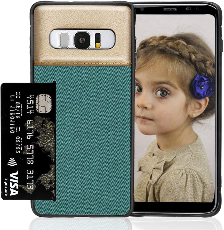 Cegar Galaxy S10 Plus Phone Case with Textured Twill Canvas Style Card Holder Compatible with Samsung Galaxy S10 Plus 2019 Release Wallet-Blue Samsung Galaxy S10 Plus Wallet Case