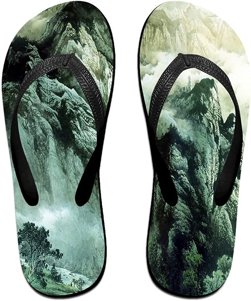 Unisex Summer Beach Slippers Chinese Mountains Flip-Flop Flat Home Thong Sandal Shoes