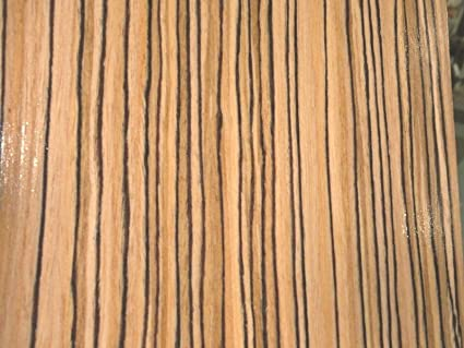 Zebrawood Wood Veneer Composite 48 X 96 With Paper Backer