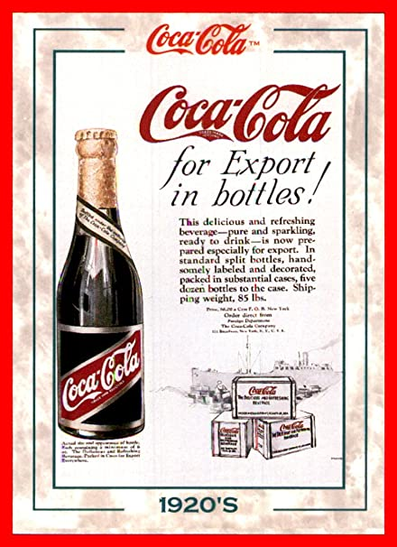 1994 Coke Trading Card Coca-Cola #128 1920's (Foreign