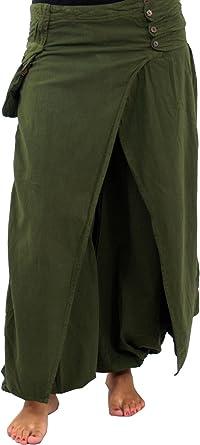 GURU-SHOP, Pantalones de Cordero, Pluderhose Fancy, Olive, Algodón, Tamaño:S (36), Pantalones Largos: Amazon.es: Ropa y accesorios