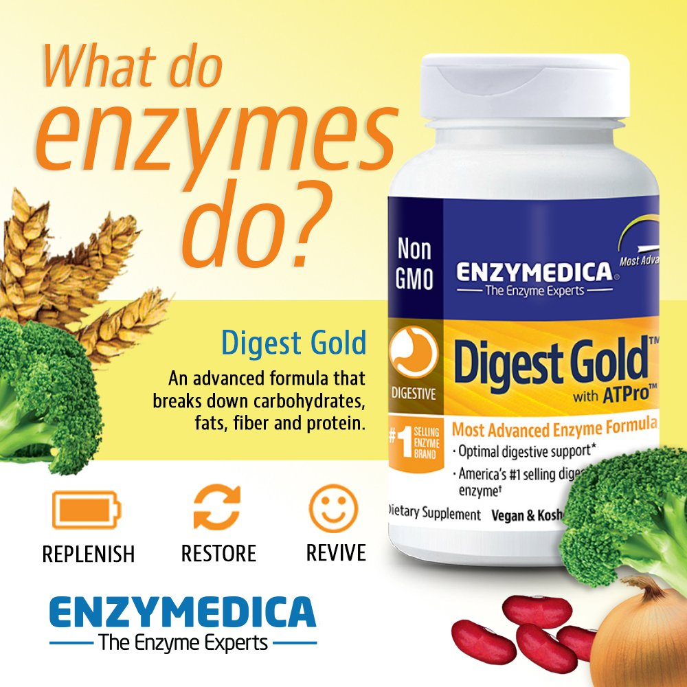Enzymedica - Digest Gold with ATPro, High Potency Enzymes for Optimal Digestive Support, 90 Capsules (FFP) by Enzymedica (Image #4)