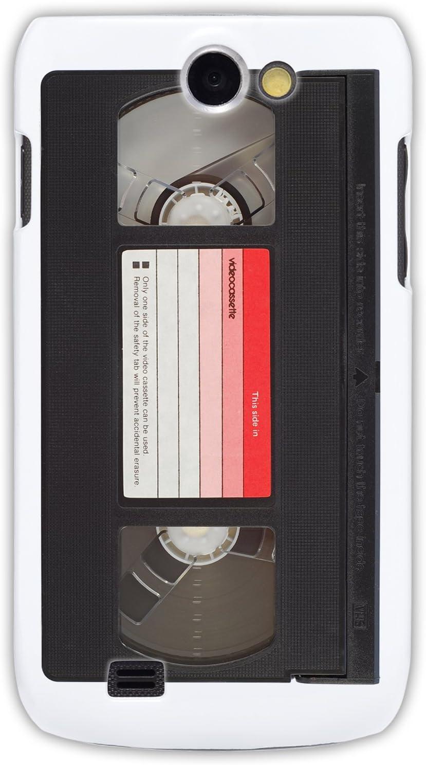 """GRÜV Case Design """"Cinta de Video Retro Vintage de los 80 VHS VCR"""" - Diseñador Mejor Calidad de Impresión en Funda Carcasa Rigida Blanca - para Samsung Exhibit 2 i8150 T679: Amazon.es: Electrónica"""