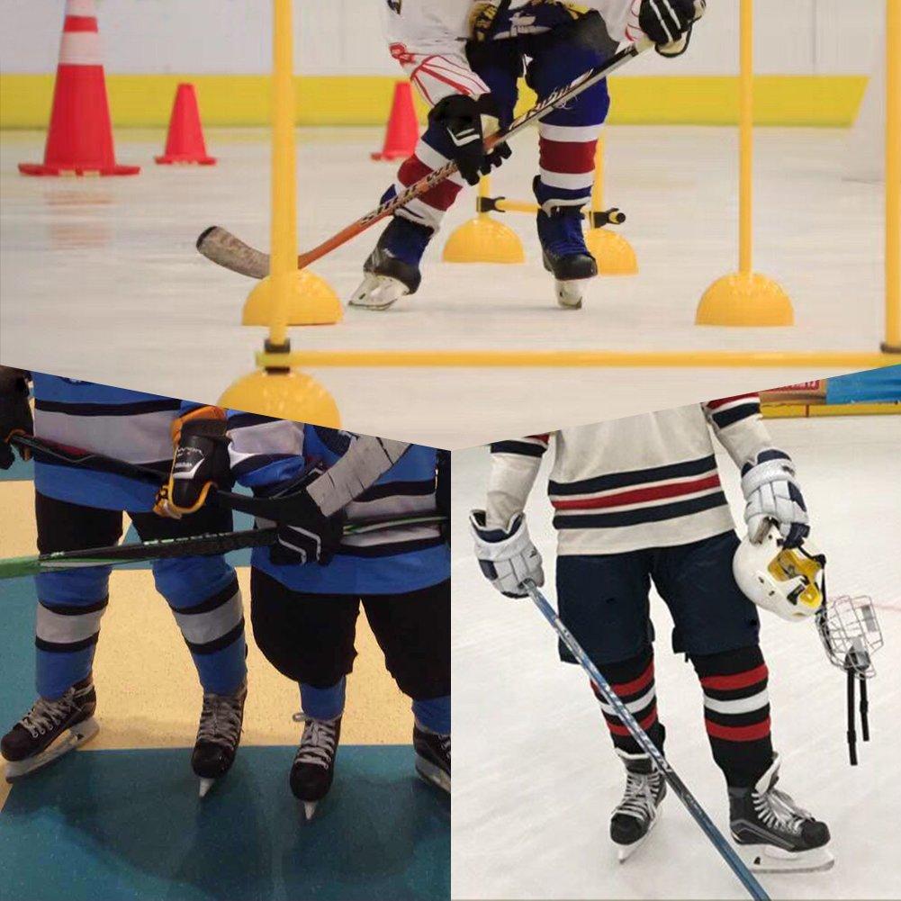 COLDINDOOR Ice Hockey Socks Youth, Boy Child Hockey Practice Dry Fit Mesh Hockey Socks Kids XS Blue by COLDINDOOR (Image #6)